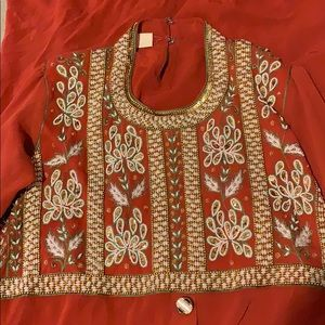 Vintage Dresses - Vintage Sheer Embroidered and Beaded Dress